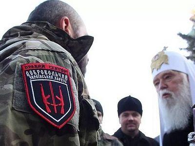 О чем договорились украинские раскольники Киевского патриархата и националисты из «Правого сектора»?!