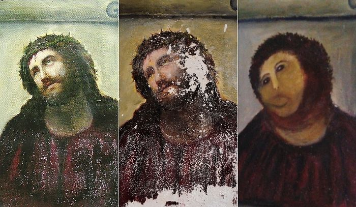 "The botched restoration of the Catholic Icon ""Ecce Homo!"" (Behold the Man!)"