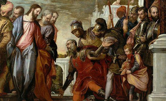 Христос беседует с капернаумским сотником