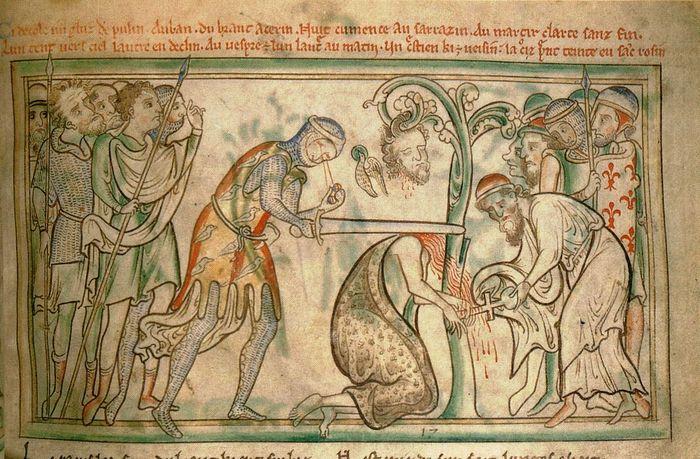 Казнь Святого Альбана (миниатюра, XIII век)