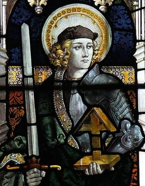 A stained glass of St. Alban (Sledmere, East Riding of Yorkshire)