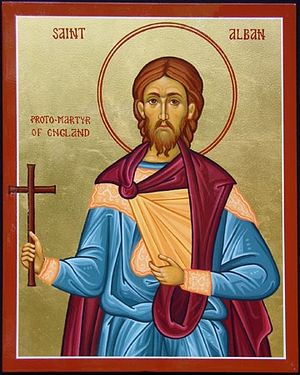 An icon of St. Alban of Verulamium
