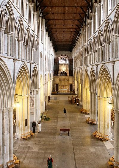 Inside St. Albans Cathedral (source - Visitherts.co.uk)