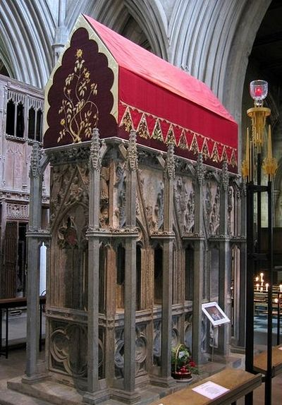The shrine of St. Alban of Verulamium in St. Albans, Hertfordshire