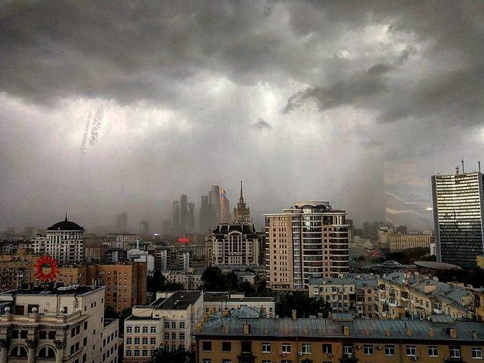 Ураган в Москве. Начало июня 2017 г.