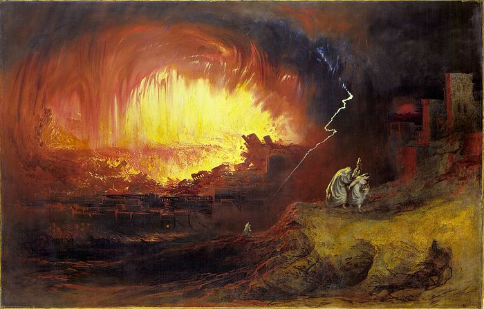 The Destruction of Sodom and Gomorrah, John Martin, 1852. Photo: wikipedia.org