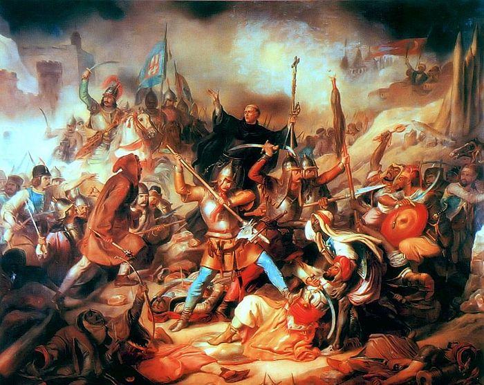 Кульминационный момент атаки христианского войска на османские соединения у стен Белграда