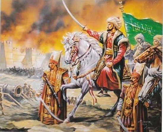 Мехмед II, отдающий приказ о начале штурма стен Константинополя. Возможно, примерно так же он выглядел, когда отдал приказ о начале штурма Белграда