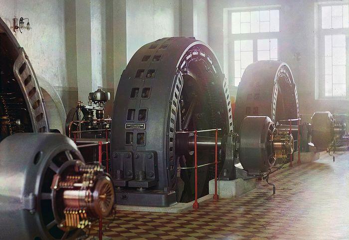Турбинный зал Гиндукушская ГЭС. Фото: С.М. Прокудин-Горский