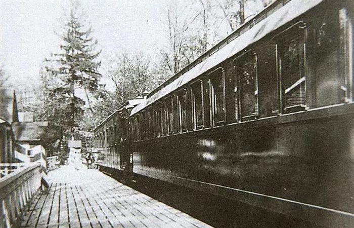 Царский поезд, в котором Николай II подписал отречение от престола