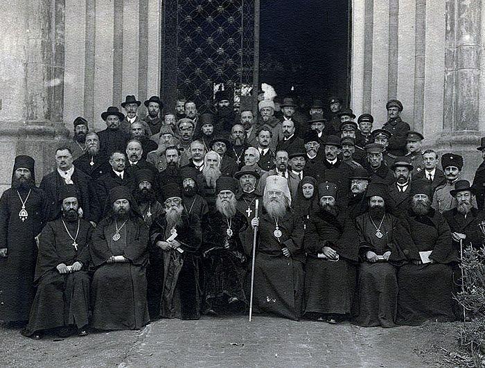 Участники первого Всезарубежного русского Церковного Собора в Сремских Карловцах