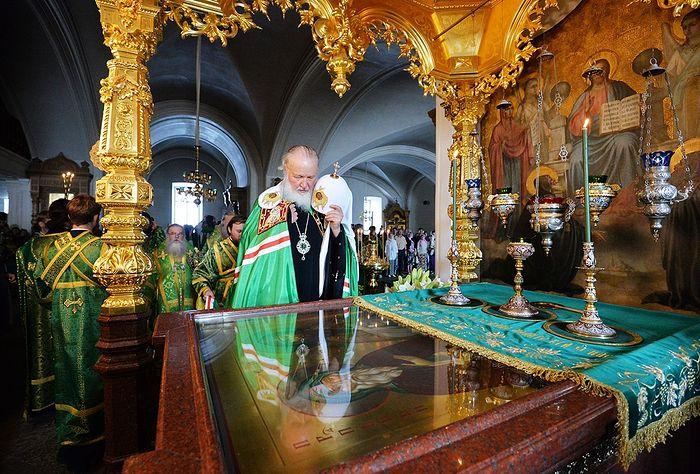 Святейший Патриарх Кирилл в Валаамском монастыре. Фото: patriarchia.ru