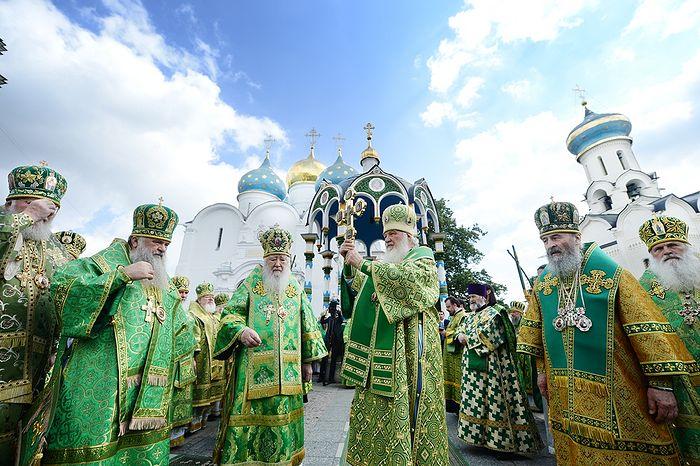 Патриаршее служение в Троице-Сергиевой лавре. Фото: patriarchia.ru