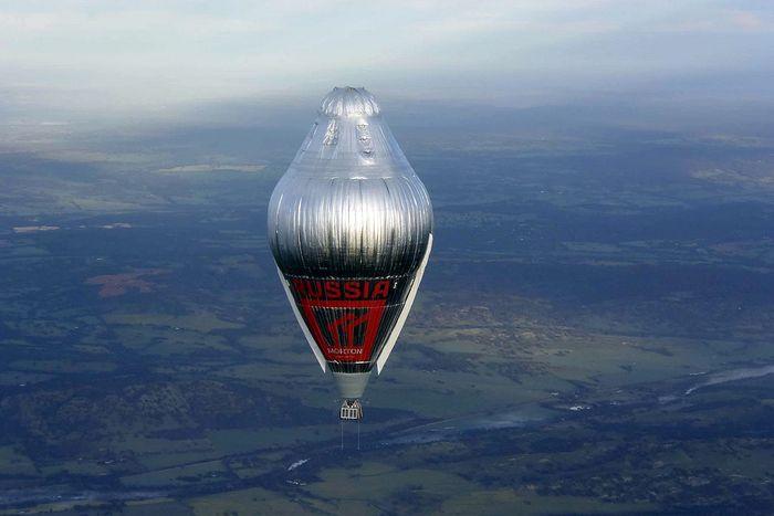 Воздушный шар, на котором совершил полет о. Федор