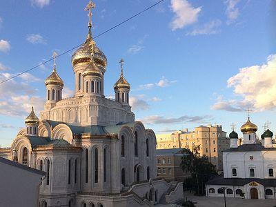 Божественная литургия в Сретенском монастыре в Неделю 8-ю по Пятидесятнице