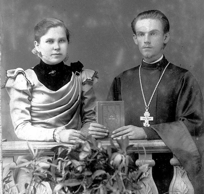 Священномученик Николай Доброумов с супругой