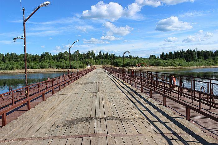 Наплавной мост на месте аныбской паромной переправы