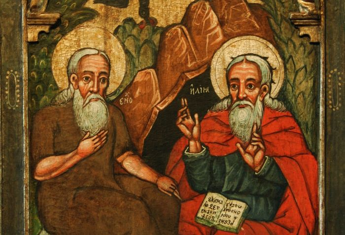 Enoch and Elijah, 17th century icon from the History Museum in Sanok, Poland. Photo: dustoffthebible.com