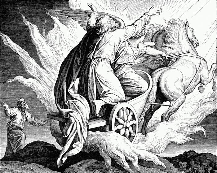 St. Elias Ascending to Heaven in a Chariot of Fire. By Julius Schnorr von Carolsfeld