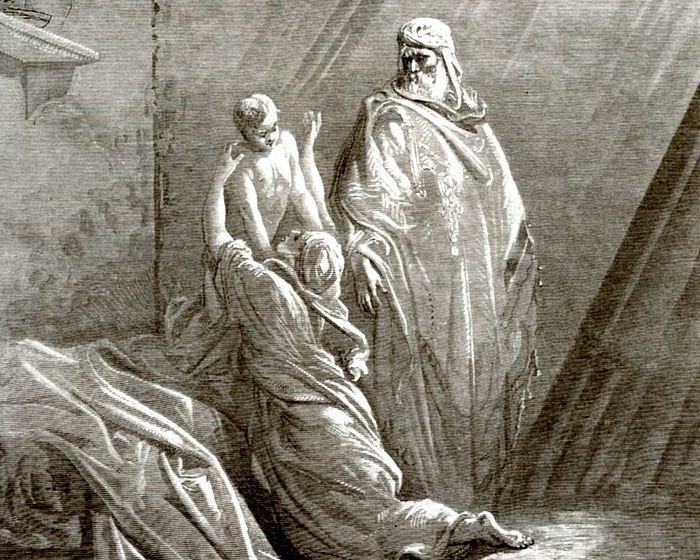 Поль Гюстав Доре. Пророк Илия воскрешает сына вдовы