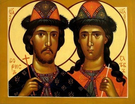 Святые благоверные князья-страстотерпцы Борис и Глеб. Иконописец Виктор Морозов
