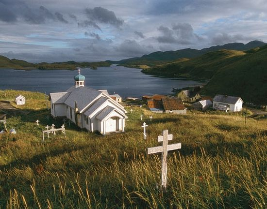 Saint Nicholas Orthodox Church, Atka. Photo: orthodox-world.org