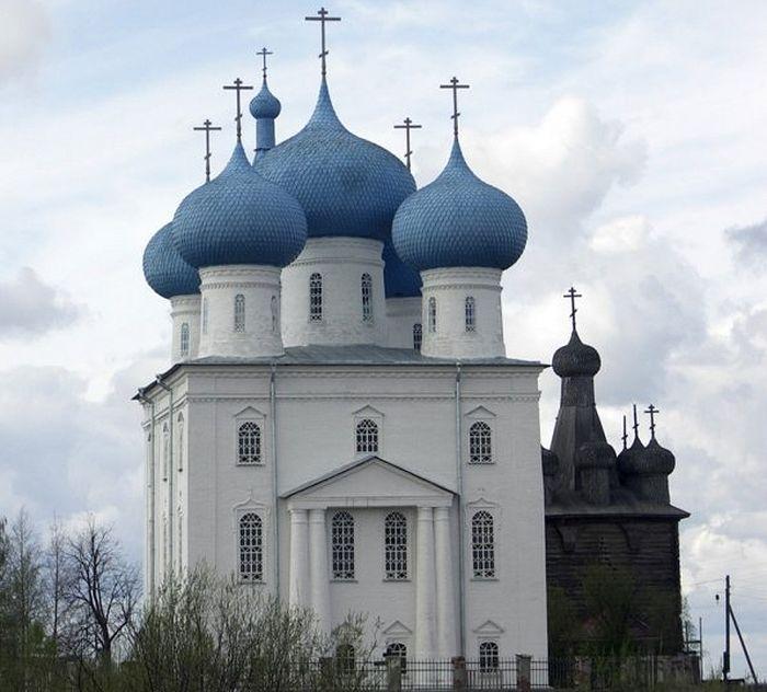 Церковь Сретения Господня в с. Заостровье (Приморский район Архангельской области)