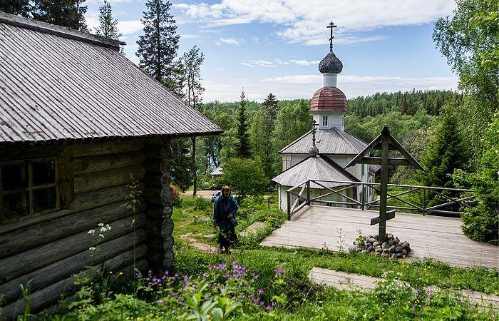 Воскресенская церковь на острове Анзерском Соловецкого архипелага. Фото: Сергей Бобылев/ТАСС