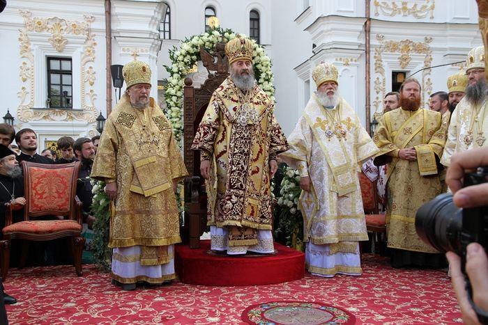 В день интронизации, 17 августа 2014 г., Киево-Печерская лавра