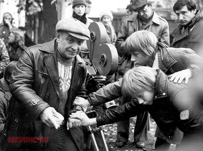 Ролан Быков на съемках фильма «Чучело»;