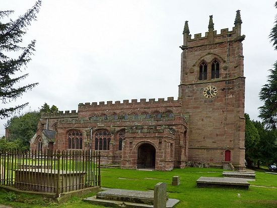 Church of St. Bertoline in Barthomley, Cheshire.