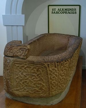 St. Alcmund's sarcophagus at Derby Museum