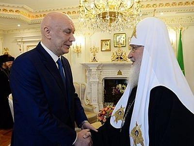 Патриарх Кирилл встретился с директором ФСИН России и председателем Синодального отдела по тюремному служению