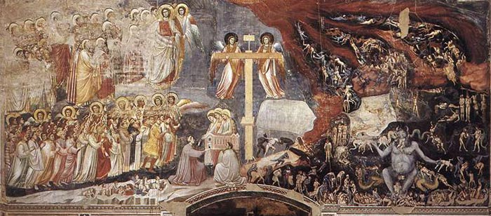 Giotto, Last Judgment in the Scrovegni chapel in Padua. Source: Mercyuponall.org