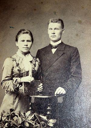 Сестра свщмч. Григория, Агния, с супругом - отцом Василием Распутиным