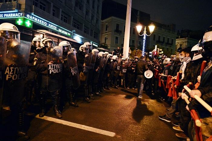 Протести анархиста у Атини