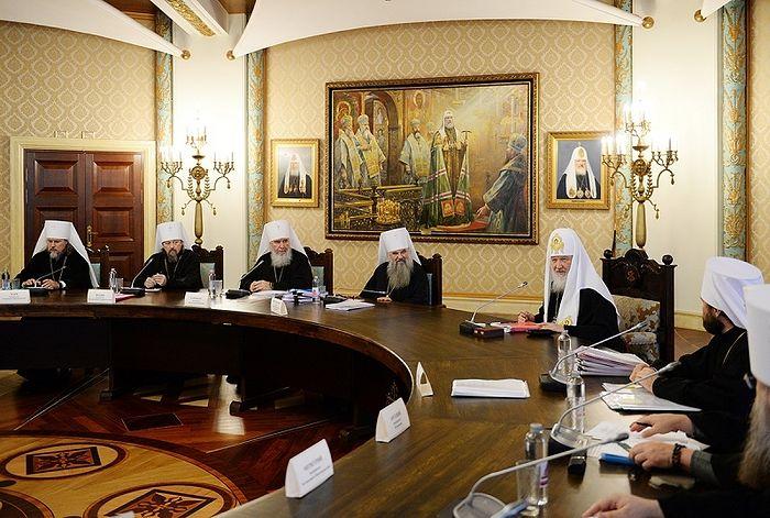 Картинки по запросу Святейший Патриарх Кирилл возглавил очередное заседание Высшего Церковного Совета