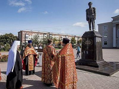 Памятник императору-страстотерпцу открыли в шахтерском городе