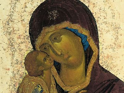 Всенощное бдение в Сретенском монастыре накануне дня празднования Донской иконы Божией Матери