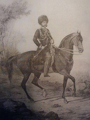 Князь А. И. Барятинский во главе русских войск на Кавказе