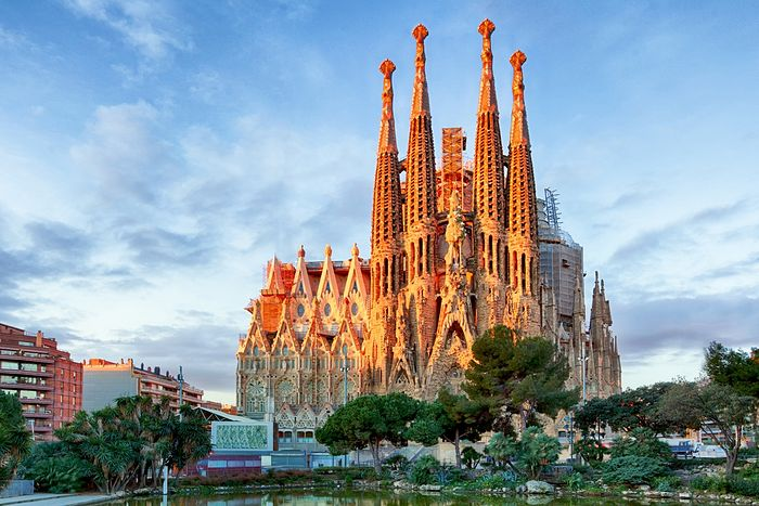 The Cathedral of the Holy Family of Christ in Barcelona—one of the city's main attractions