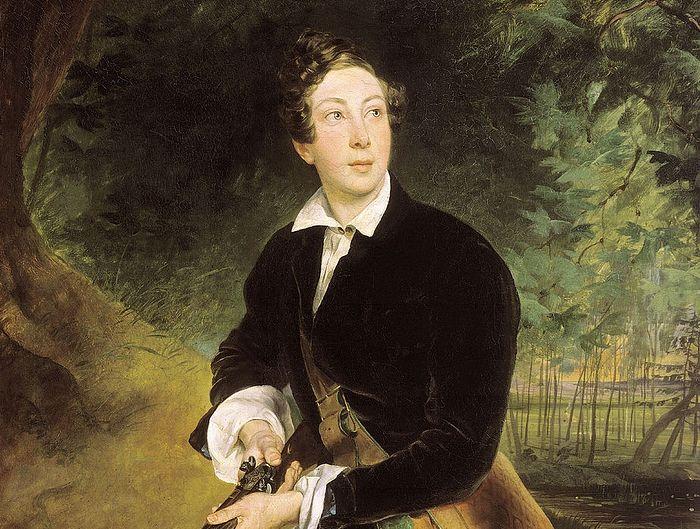 К. П. Брюллов. Портрет Алексея Толстого в юности (1836)