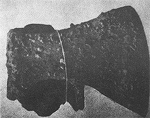 Топор, найденный Н.А. Соколовым