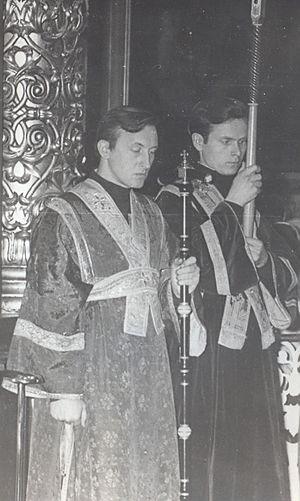 Геннадий Нефедов и Владимир Чувикин, Елоховский собор, 1972 год
