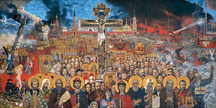 """Ilya Glazunov's """"Eternal Russia."""" Photo: glazunov.ru"""