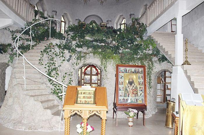 В храме Преображения Спасо-Вифанской обители