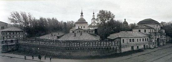 Панорама Данилова монастыря после закрытия. 1930-е гг. Фото с сайта a-dedushkin.livejournal.com