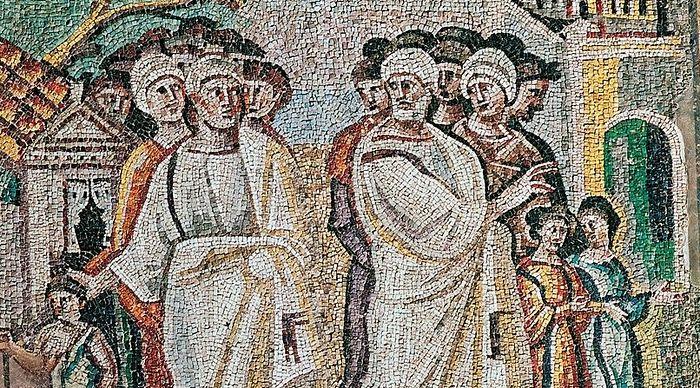 The Parting of Lot and Abraham, Santa Maria Maggiore, mosaic in the nave. Photo: inpress.lib.uiowa.edu