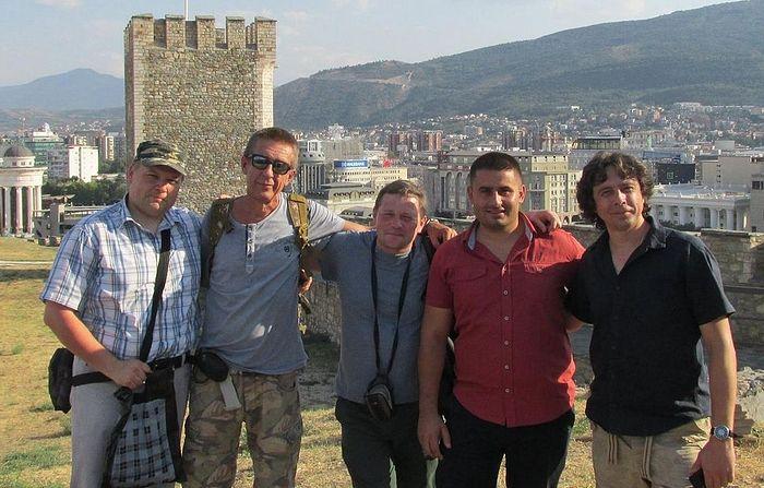 Родион Денисов, Юрий Алексеев, Петр Давыдов, Горан Величкович и Денис Поздняков. Скопье, Македония