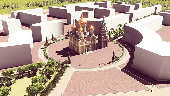 Проект русско-сербского храма в городской застройке. г. Баня-Лука